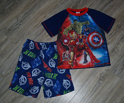 Boy's 2 Pc Avengers Pajamas Size L by Marvel, Shorts + Short Sleeve Top