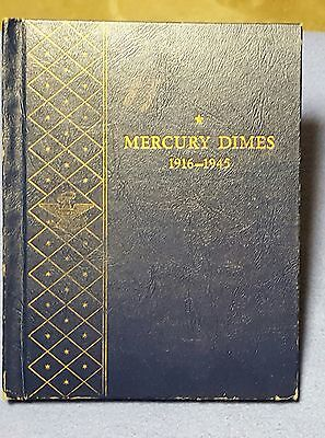 Mercury Dimes Coin Folder with 52 Dimes Slotted and Checked