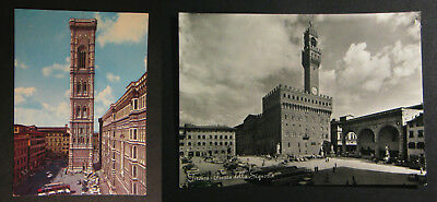 Postcard Vintage Italy Florence The Signoria Square