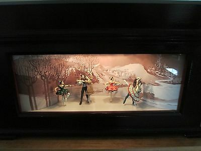Mr Christmas Animated Wood Music Box with Dancers W/10 Discs