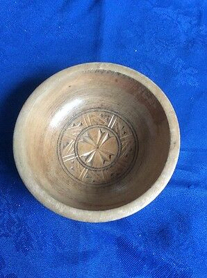 Small decorative light wood bowl