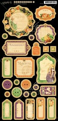Graphic 45 - An Eerie Tale - Chipboard Tags 1
