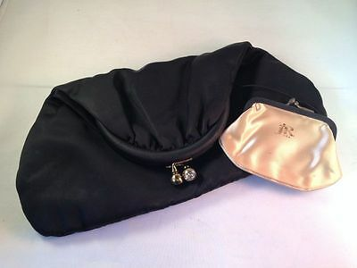 Vintage Julius Resnick 1950's-60's Satin Foldover Clutch Bag with Coin Purse