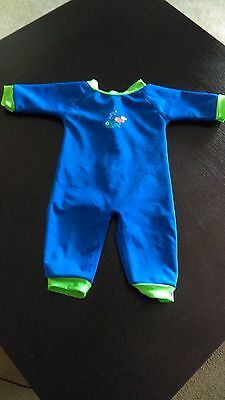 Swimbest Warmsuit Baby Wetsuit Blue 6-12 months - Good Condition