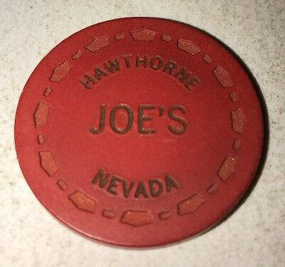 Joe's $.25 Casino Chip Hawthorne Nevada 2.99 Shipping