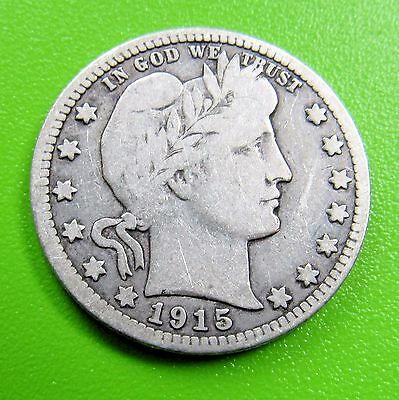 1915 25C Barber Quarter - FREE DOMESTIC SHIPPING