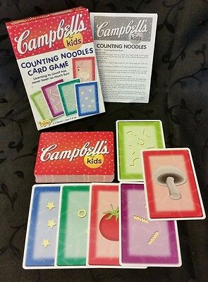 Campbell's Soup Counting Noodles Kids Card Game Vtg 2003