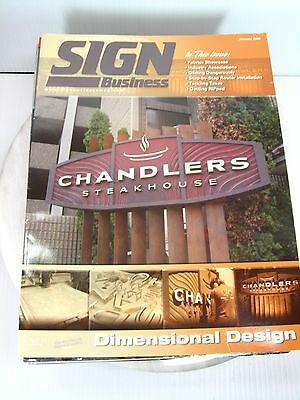 SIGN BUSINESS Magazine Lot of 9 2008 Editions Sign Business Graphics Reference