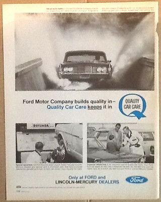 Ford Motor Co ad 1965 original vintage 1960s classic car photography Quality