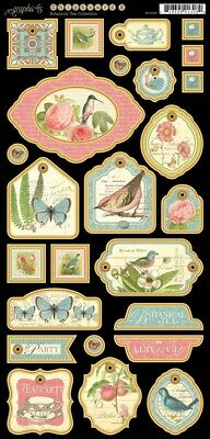 Graphic 45 - Botanical Tea - Chipboard 2