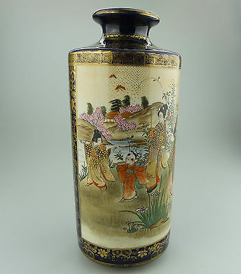 Antique Oriental Pottery : Large Satsuma Vase C.late 19th / early 20th century