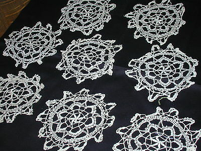 """Antique Netted Lace Coasters Set of 8~4"""""""
