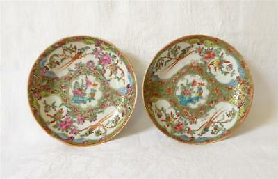 Pair Of 19Th C Chinese Canton Saucers