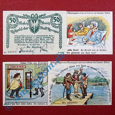 4 x Notgeld Neuruppin , Serie 2 , german emergency money , M/G 959.2 ,  kfr./unc