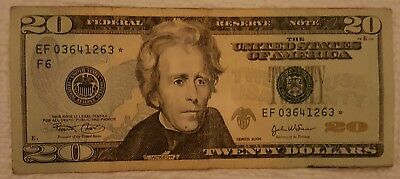 2004 series **STAR** $20 Dollar Federal Reserve Note US Currency