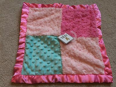 NWT Cuddle Bear Collection Baby Girl Security Blanket Lovey Pink Teal