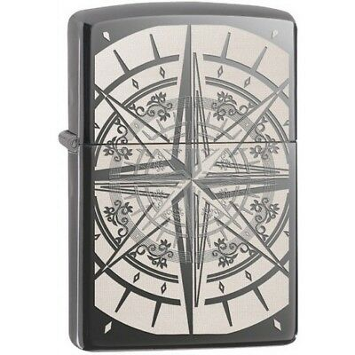 Zippo 29232 Black Ice Exquisite Compass Lighter