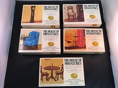 """Vintage X-Acto """"The House of Minatures"""" Lot of 5 Dollhouse Furniture Accessories"""