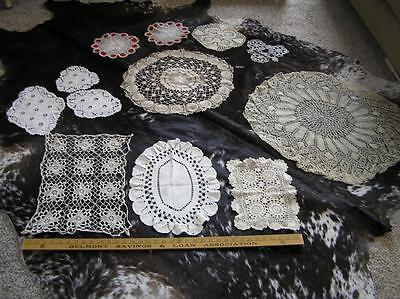 Vintage Elegant Lot of 12 Heirloom Crochet Doilies Runners Table Scarves