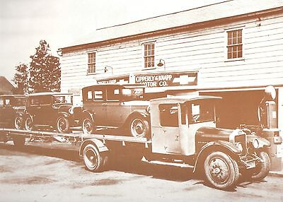 """Vintage 9"""" X 12"""" Sepia CHEVROLET Delivery Day"""