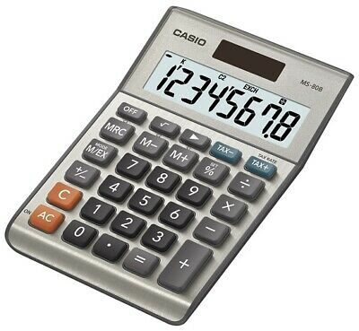 Casio MS-80B Solar Desktop Calculator 8-Digit Display
