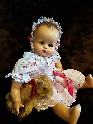 """Antique Vtge IDEAL BABY BEAUTIFUL SERIES 18"""" Composition Mama Baby Doll PRETTY!!"""