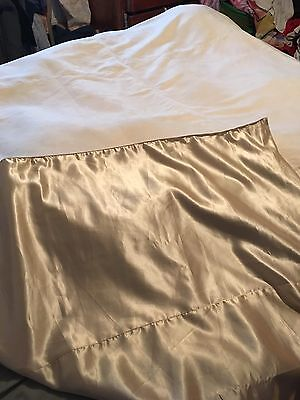 Vintage Suede Leather And Satin King Size Bedspread