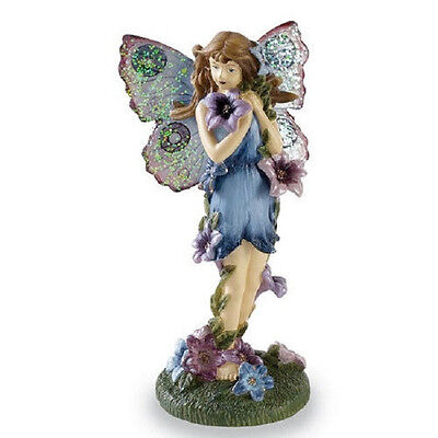 """DELUXE GLITTER DUSTED WINGS FAIRY Angel  FIGURINE HOME New INTERIOR 7-1/2"""" H"""