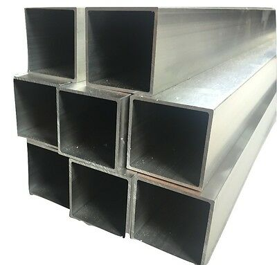 ALUMINIUM SQUARE BOX / RECTANGULAR TUBE Tube Various Sizes 2000 mm to 6000 mm L