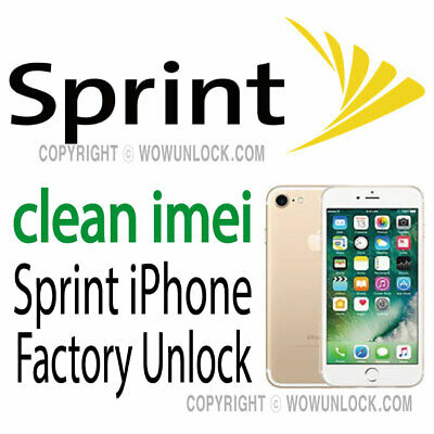Unlock Service Sprint iPhone 7 7+ 6S 6S+ 6 Plus Clean Semi Premium unpaid bills