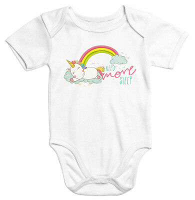 Baby-Body schlafendes Einhorn auf Wolke need more sleep sleeping Unicorn