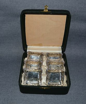6 Sterling Silver English Nut Dishes Bowls with Case
