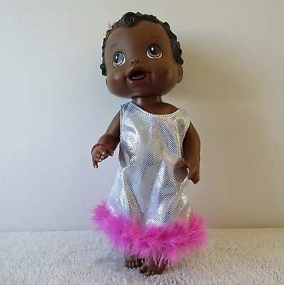 """Baby Alive 2011 African American Black Interactive Talking Doll 13"""""""