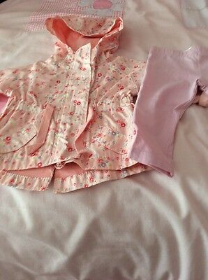 Baby Girls 2-3 Months Jacket And Leggings