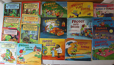 Lot -  18 Children's Picture Books  Franklin Froggy Bourgeois London Series
