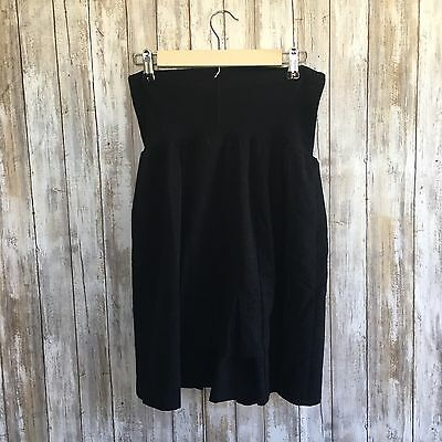 Women's DUO Maternity Skirt A-Line Pleated Back Stretch Career Size Large