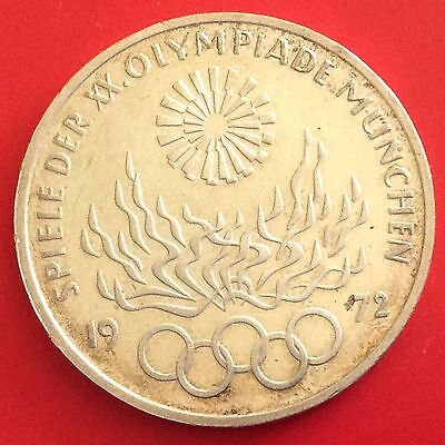 1972 - F  Germany Silver 10 Mark Coin