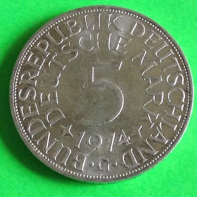 1974 G Germany 5 Mark Silver Coin