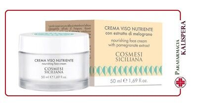 Cosmesi Siciliana Crema Viso Nutriente All'estratto Di Melograno 50Ml