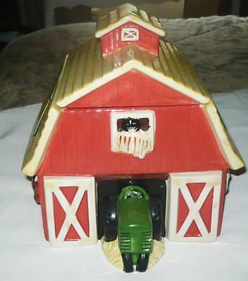 John Deere Barn Cookie Jar