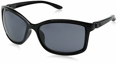 Oakley Women's Step Up OO9292-05 Cateye Sunglasses Polished Black Grey
