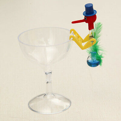 [NEW] Novelty Dippy Drinking Bird With Plastic Glass