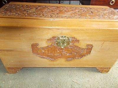 A Carved Chinese Camphorwood Chest