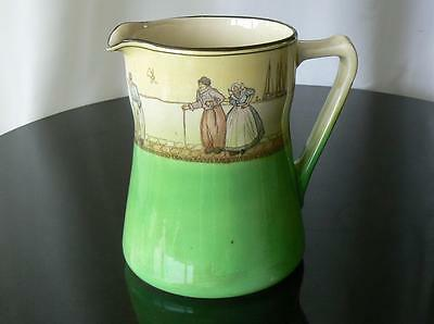 Royal Doulton green Dutch Harlem Series Ware large water jug early 20th Century