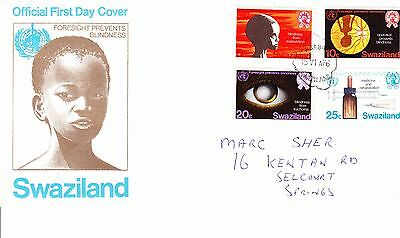 Swaziland 1976 - Blindness Prevention  First Day Cover. - . Addressed