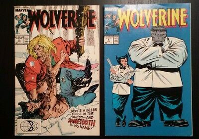 Wolverine 10 and 8-Vs Sabretooth and Hulk cover-key books! Mid-grade lot of 2