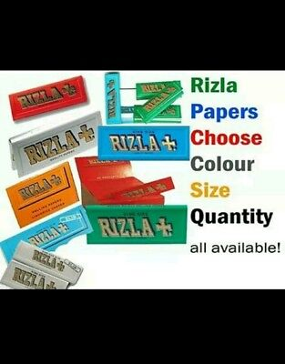 Rizla Standard / King Size Green/Silver/Blue/Red more GENUINE SMOKING PAPERS