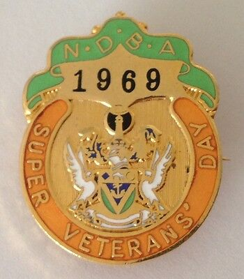 NDBA 1969 Super Veterans Day Bowling Club Badge Pin Vintage Lawn Bowls (L32)