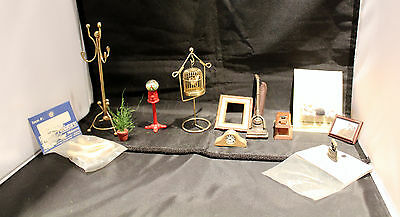 Lot of doll house accessories bird cage gumball coat rack picture more 12 items