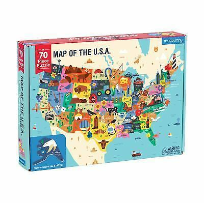 Map of the U. S. A. Puzzle by Mudpuppy (2017)